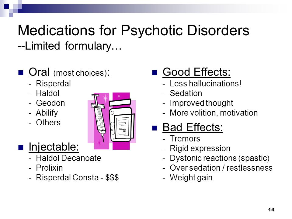 Medications for Psychotic Disorders --Limited formulary…