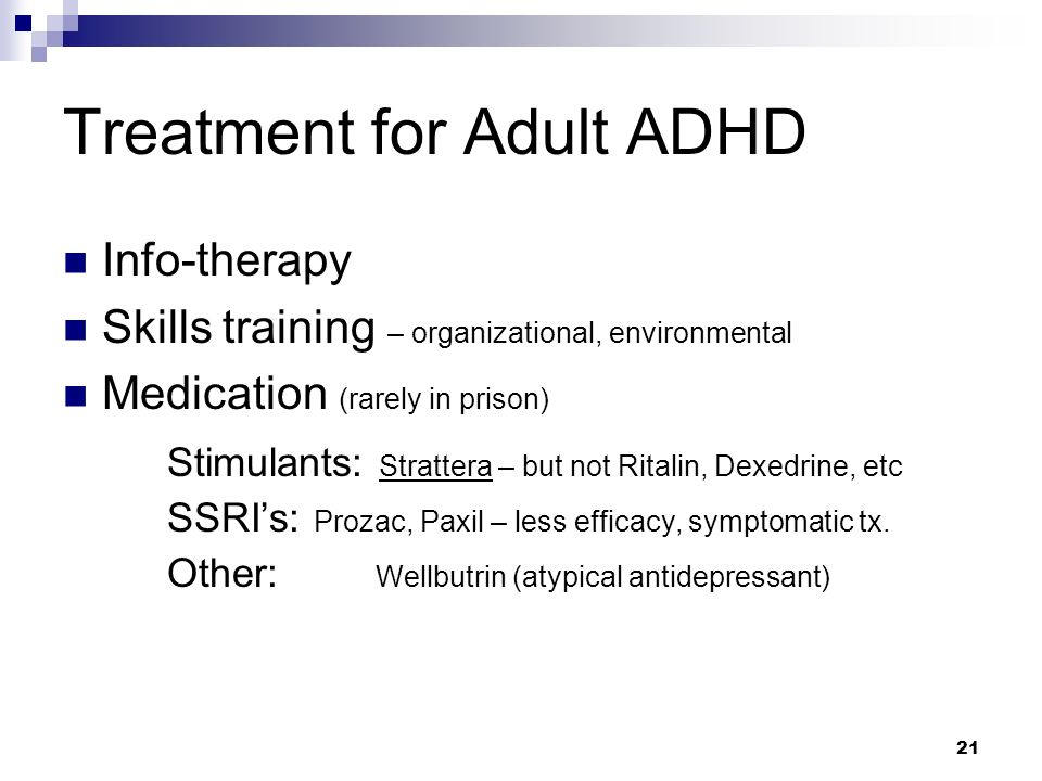 Treatment for Adult ADHD