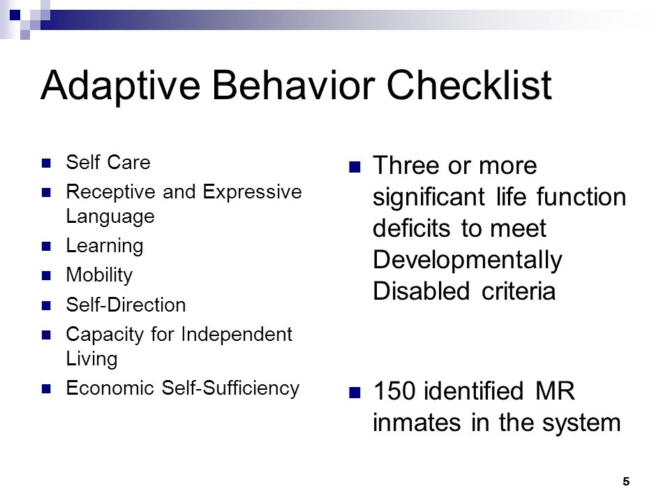 Adaptive Behavior Checklist