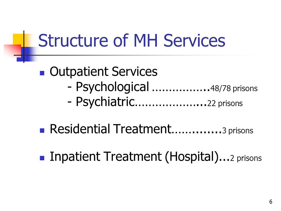 Structure of MH Services
