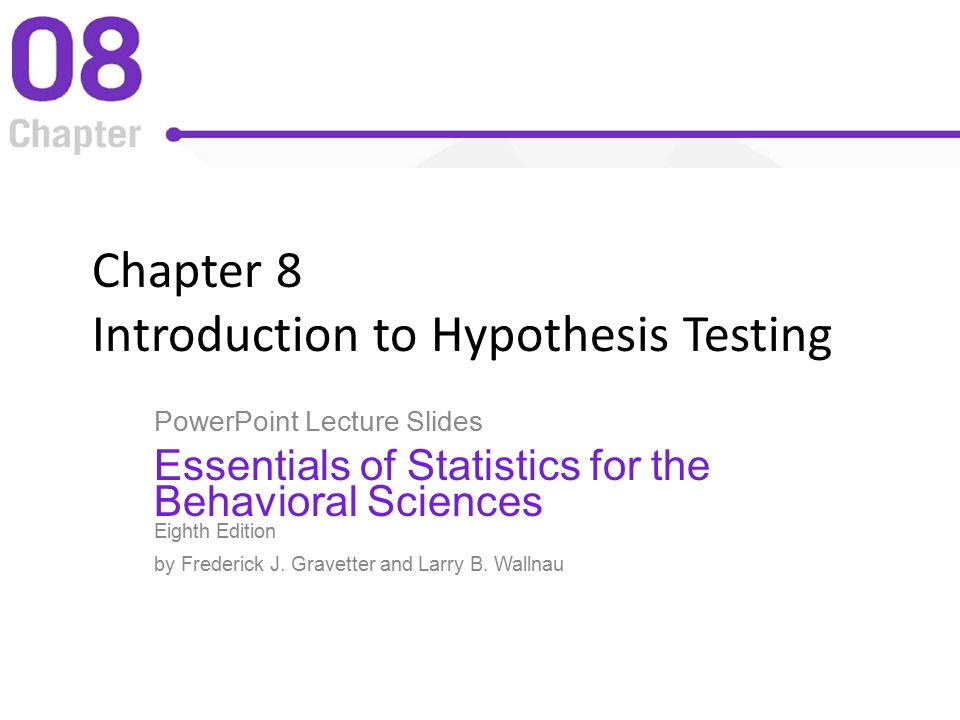 chapter 8 hypothesis testing Bluman, chapter 8 chapter 8 objectives 1 understand the definitions used in hypothesis testing 2 state the null and alternative hypotheses 3 find.