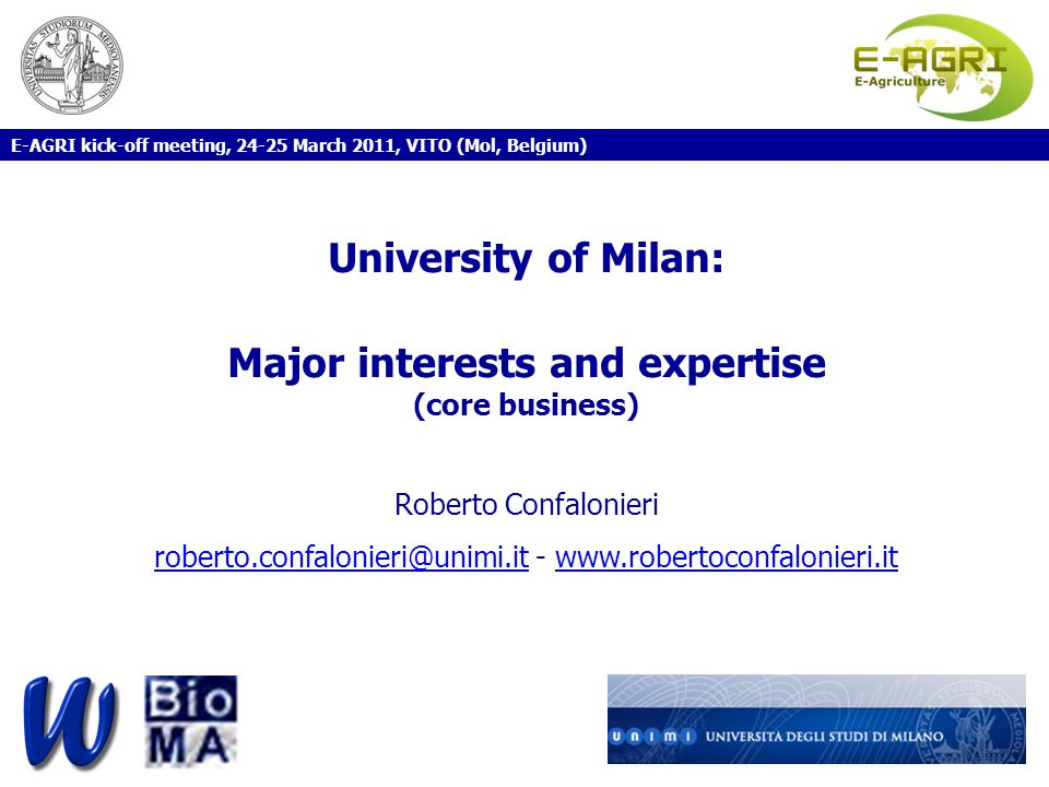 Major interests and expertise (core business)