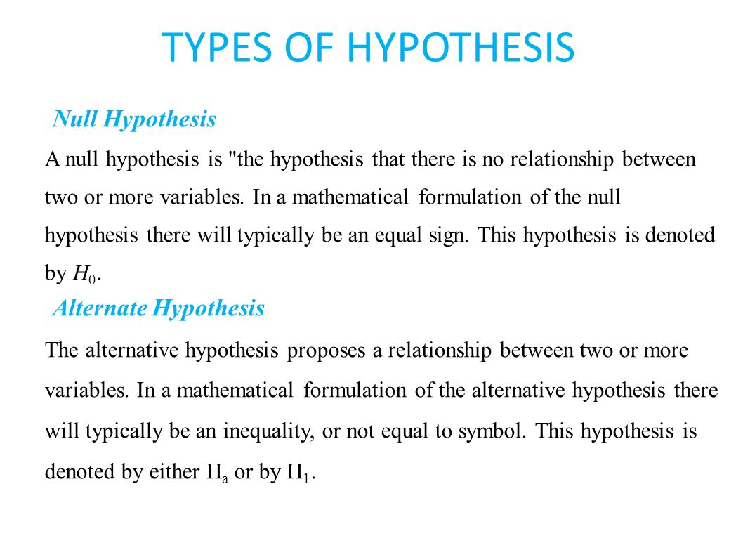 Sta statistical inference ppt video online download types of hypothesis null hypothesis alternate hypothesis biocorpaavc