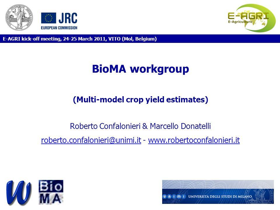 (Multi-model crop yield estimates)