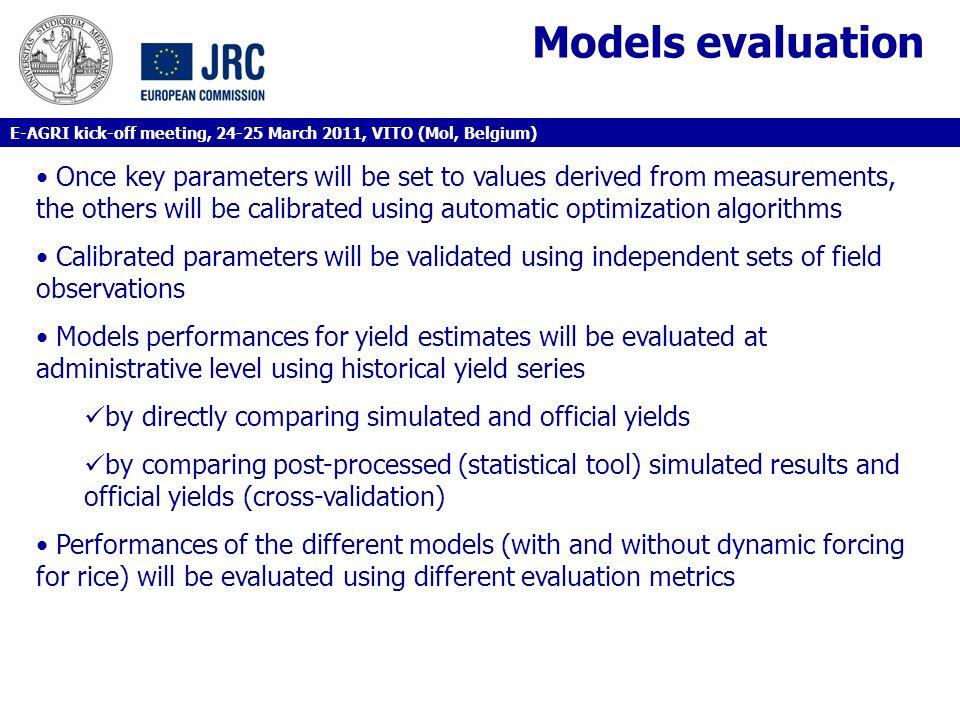 Models evaluation