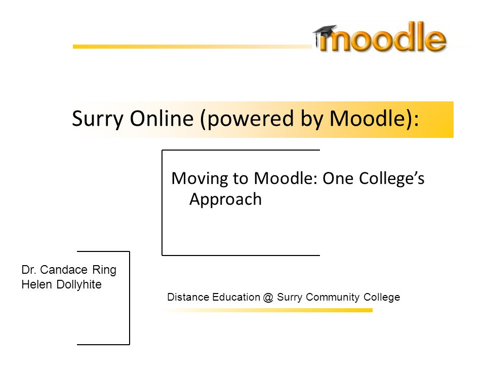 Surry Online (powered by Moodle):