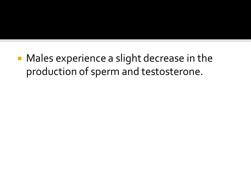 Sperm in males decrease