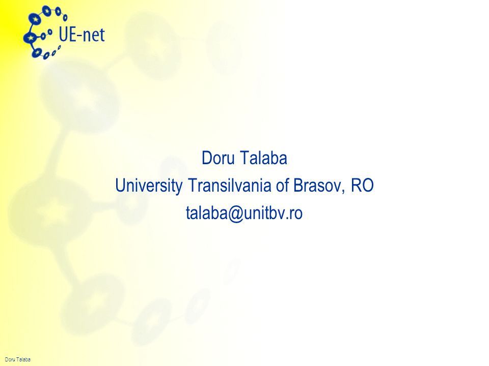 University Transilvania of Brasov, RO