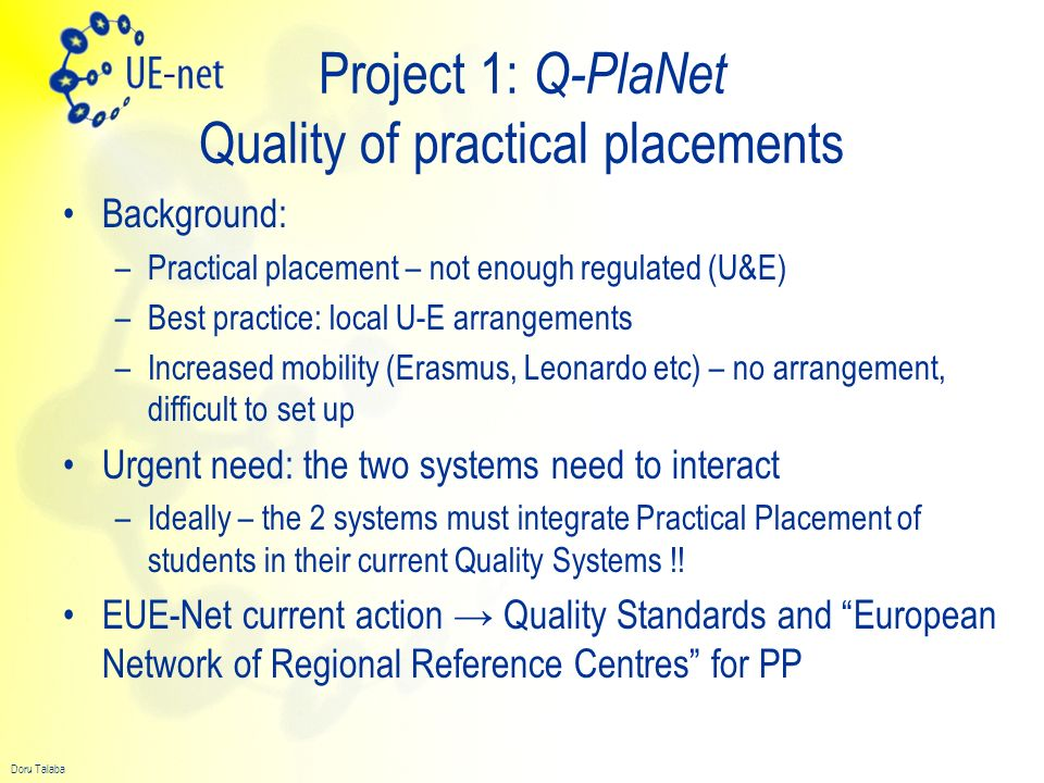 Project 1: Q-PlaNet Quality of practical placements