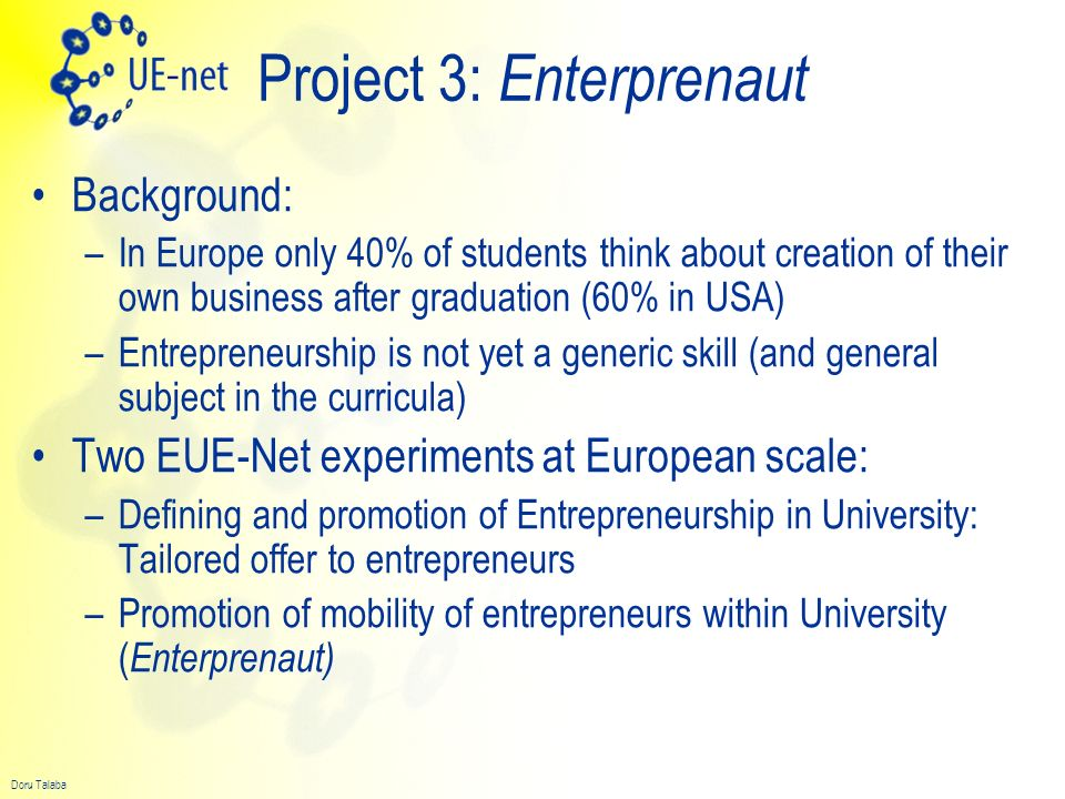 Project 3: Enterprenaut