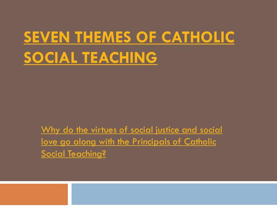 themes of catholic social teaching
