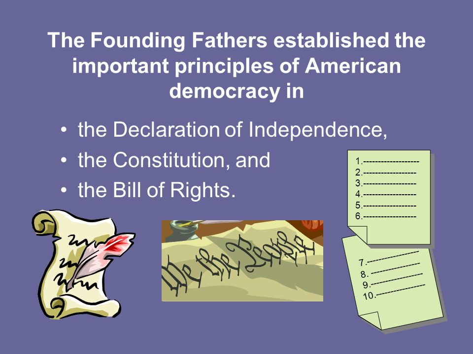 the Declaration of Independence, the Constitution, and