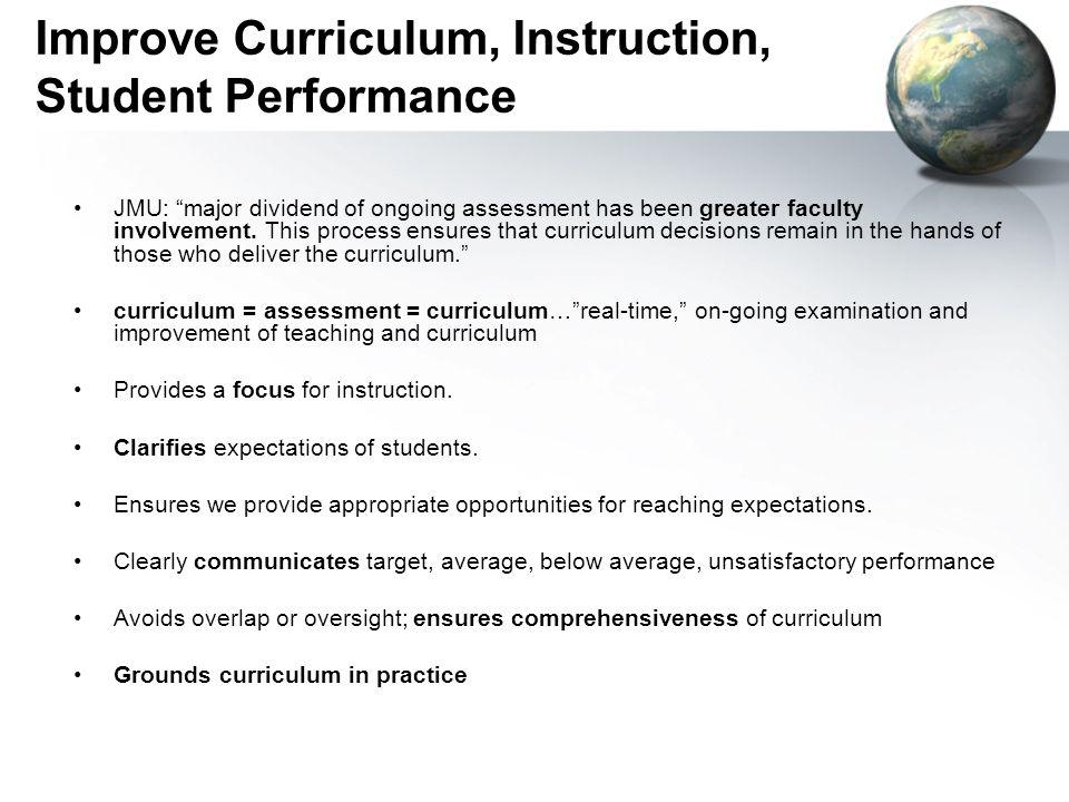 Improve Curriculum, Instruction, Student Performance
