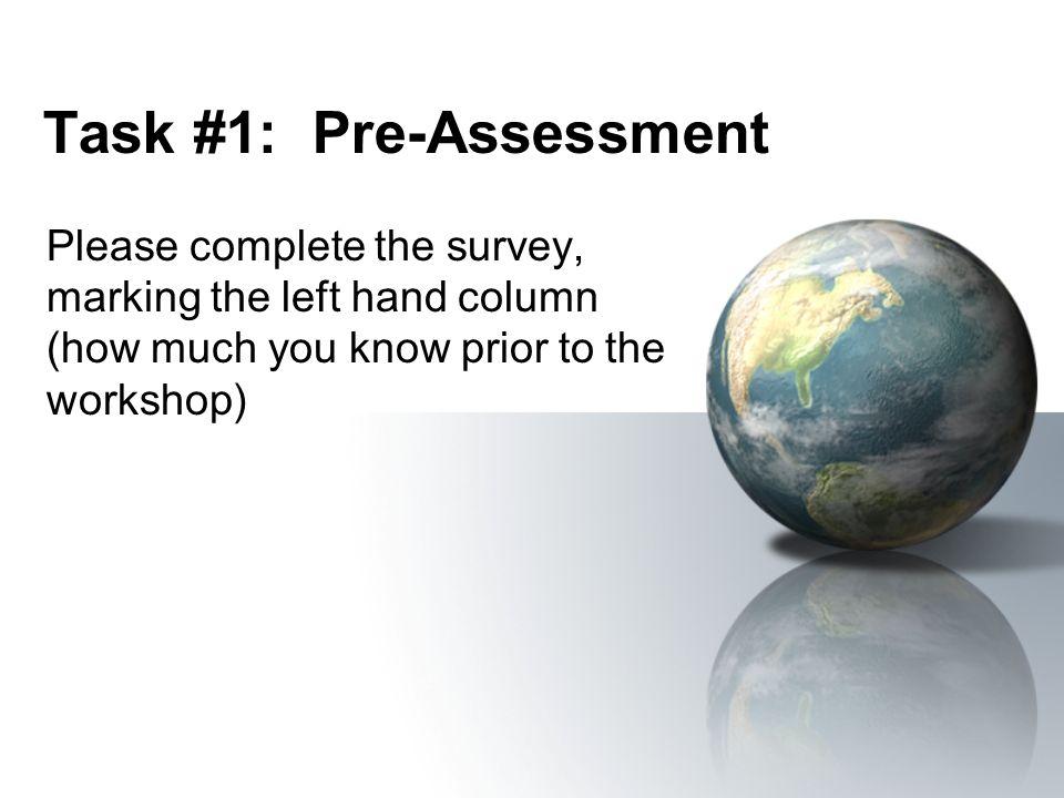 Task #1: Pre-Assessment