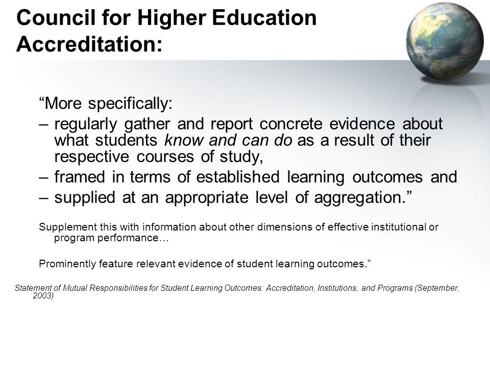 Council for Higher Education Accreditation:
