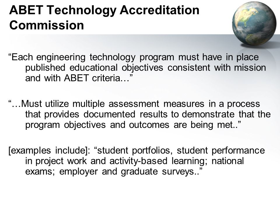 ABET Technology Accreditation Commission