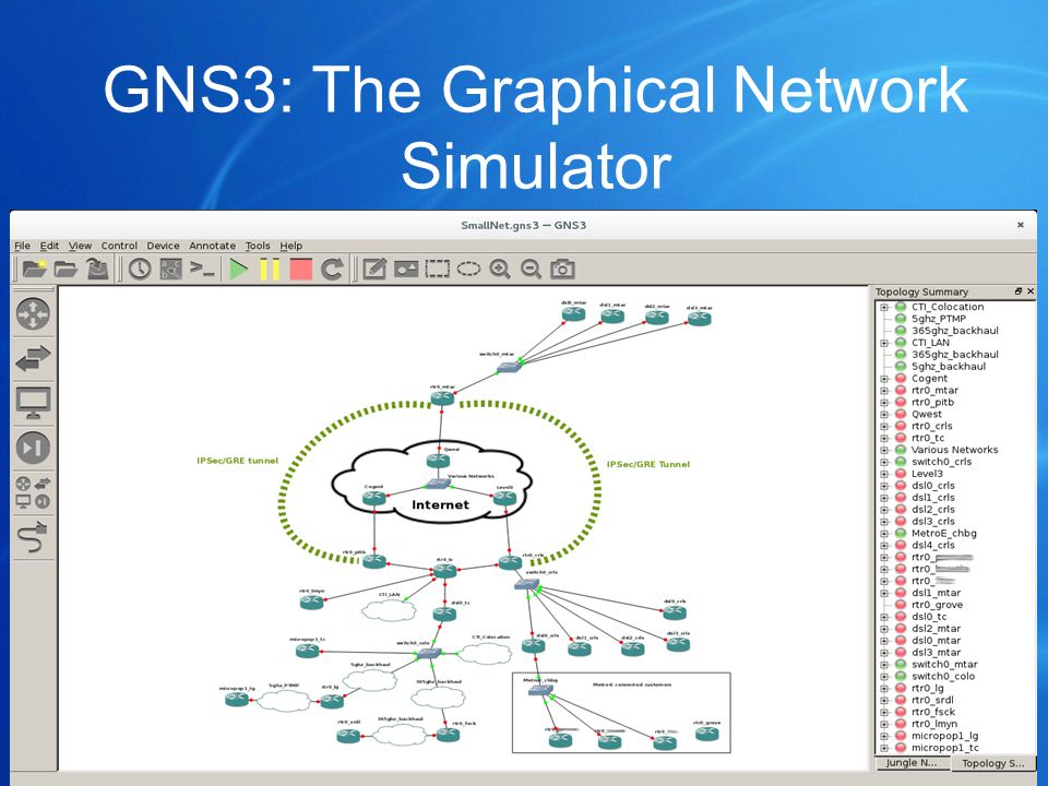 GNS3: The Graphical Network Simulator
