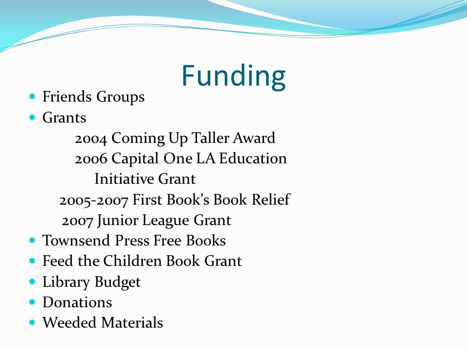 Funding Friends Groups Grants 2004 Coming Up Taller Award
