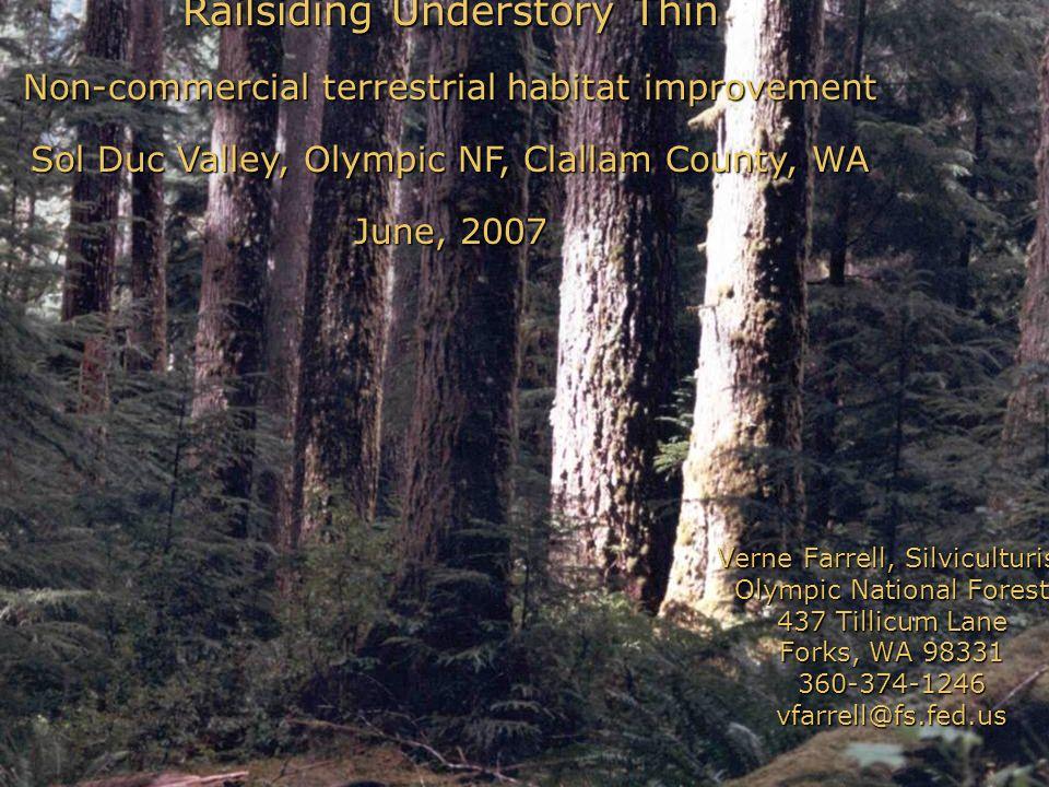 Railsiding Understory Thin