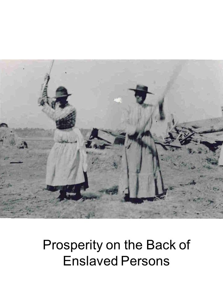 Prosperity on the Back of Enslaved Persons
