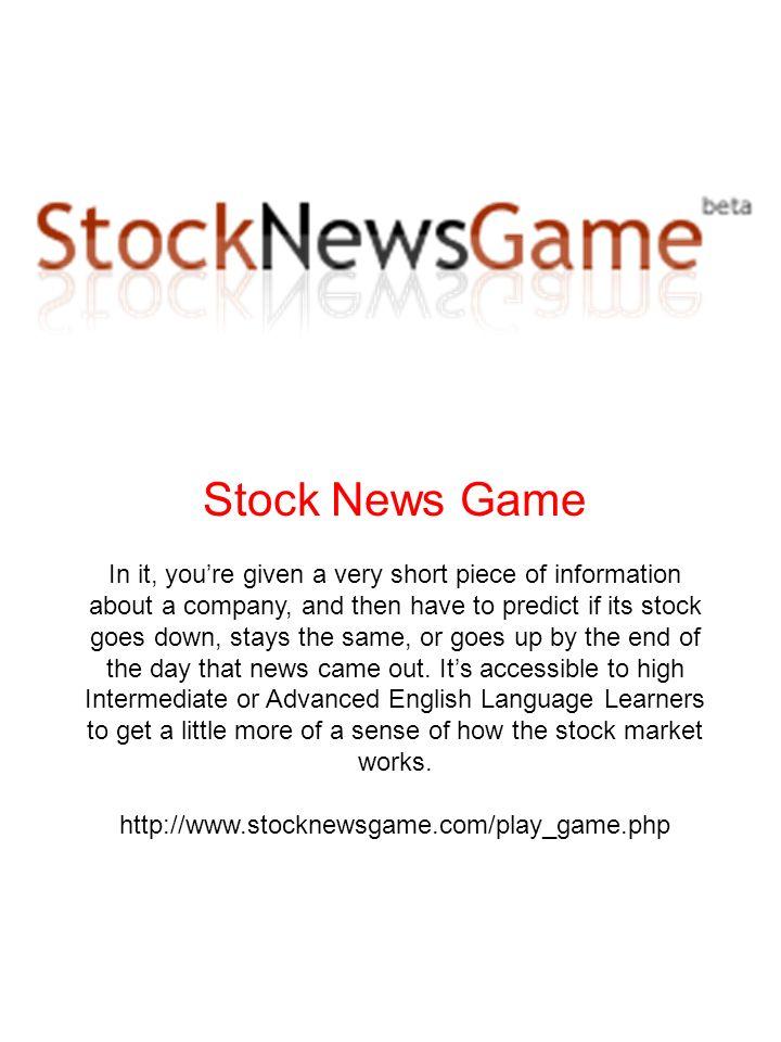 Stock News Game