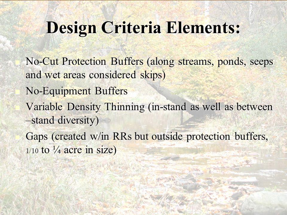 Design Criteria Elements: