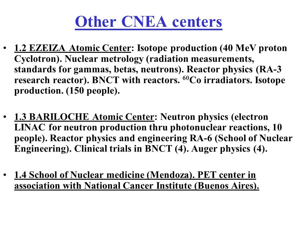 Other CNEA centers