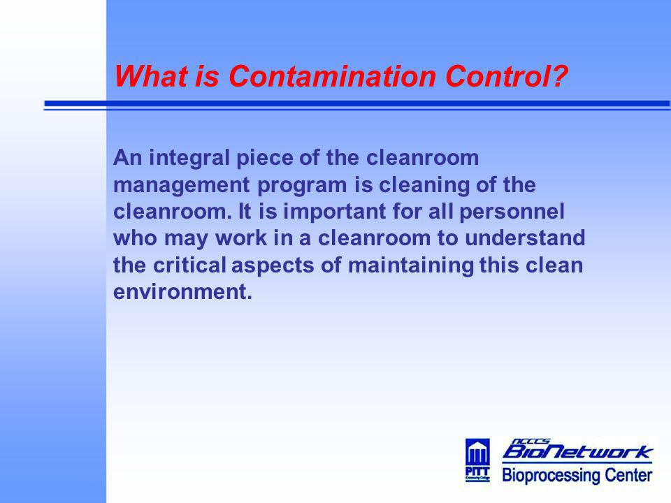 What is Contamination Control
