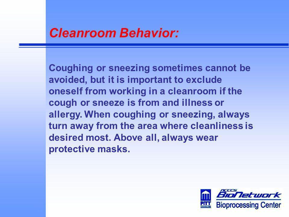 Cleanroom Behavior: