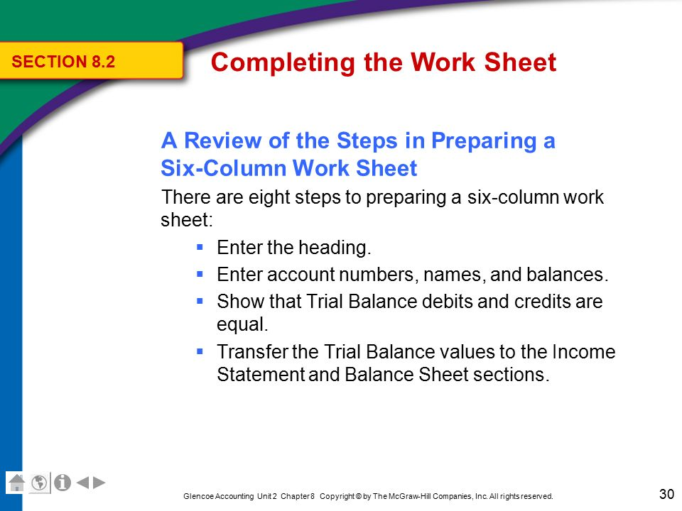 Six Column Trial Balance Worksheet : Classifiedsrevizion