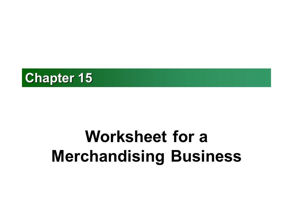 Worksheet for a Merchandising Business ppt video online download – Theme Worksheet
