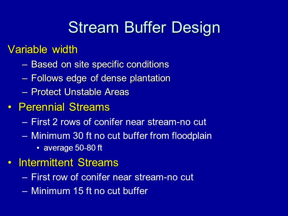 Stream Buffer Design Variable width Perennial Streams