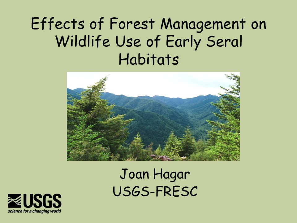 Effects of Forest Management on Wildlife Use of Early Seral Habitats