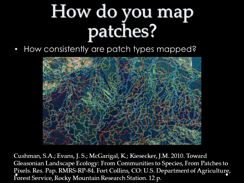 How do you map patches How consistently are patch types mapped
