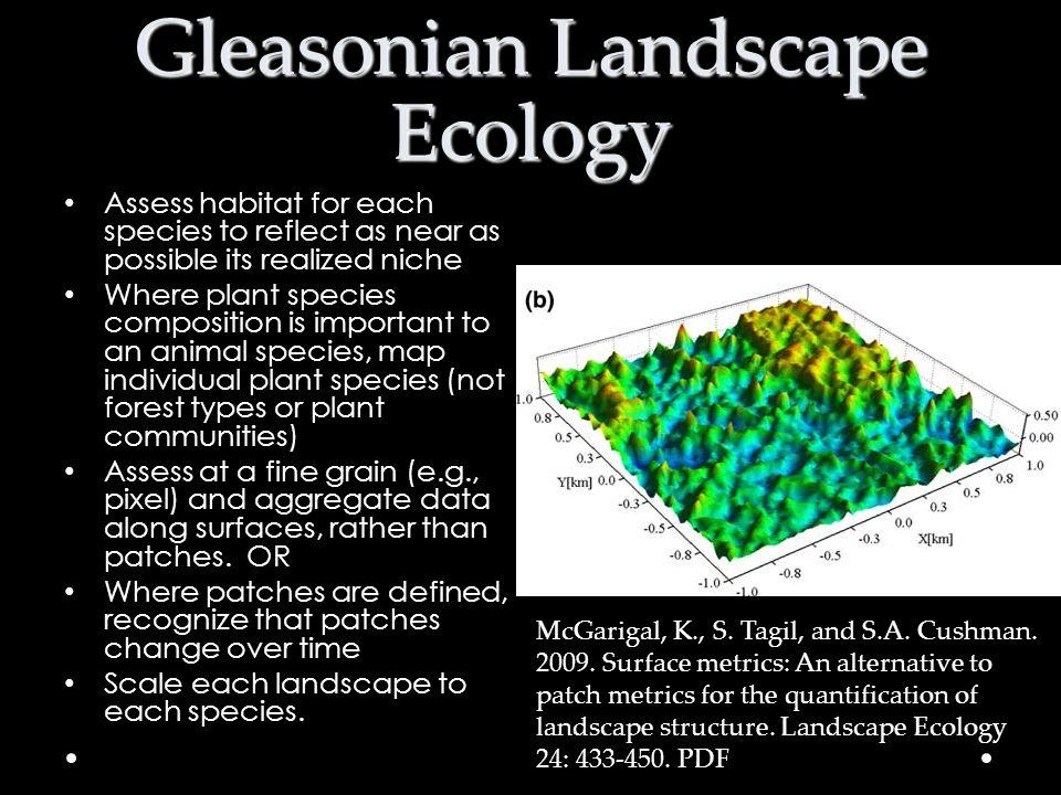 Gleasonian Landscape Ecology