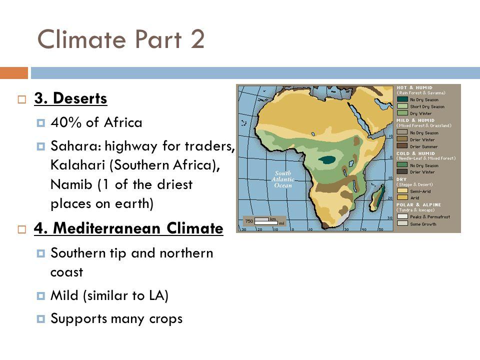 Mediterranean climate in africa