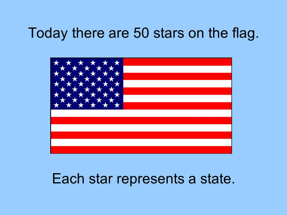 Today there are 50 stars on the flag.