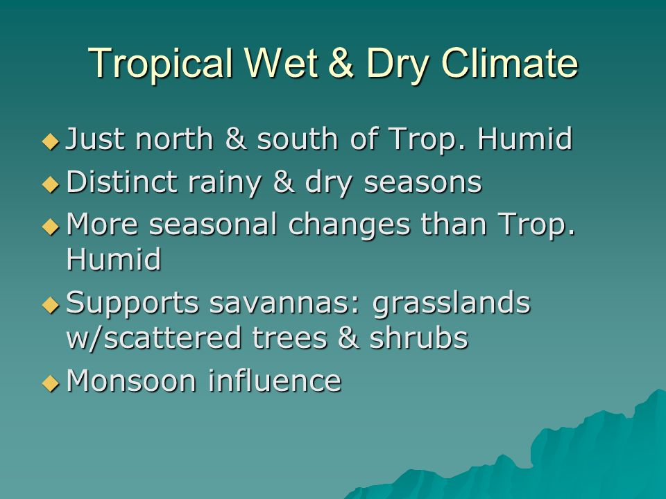 Tropical Wet & Dry Climate