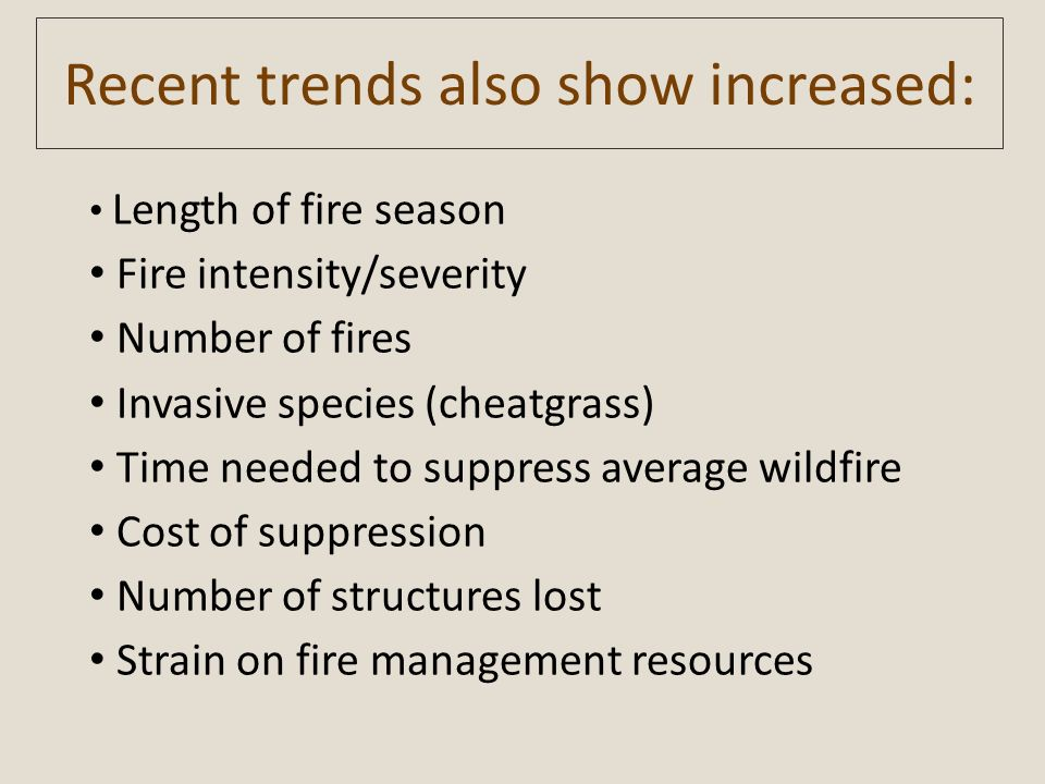 Recent trends also show increased: