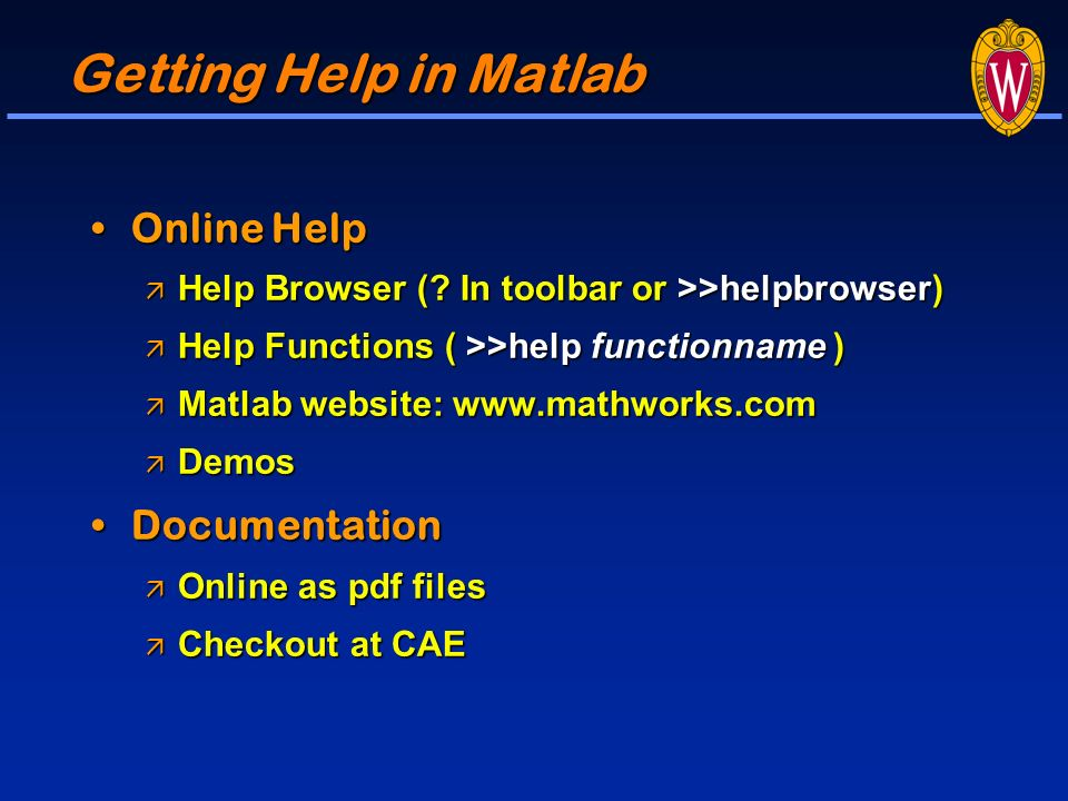 introduction to image processing matlab medical imaging  getting help in matlab online help documentation