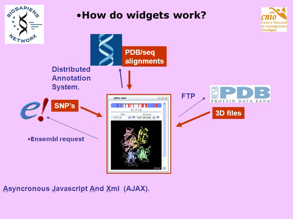 How do widgets work PDB/seq alignments Distributed Annotation System.