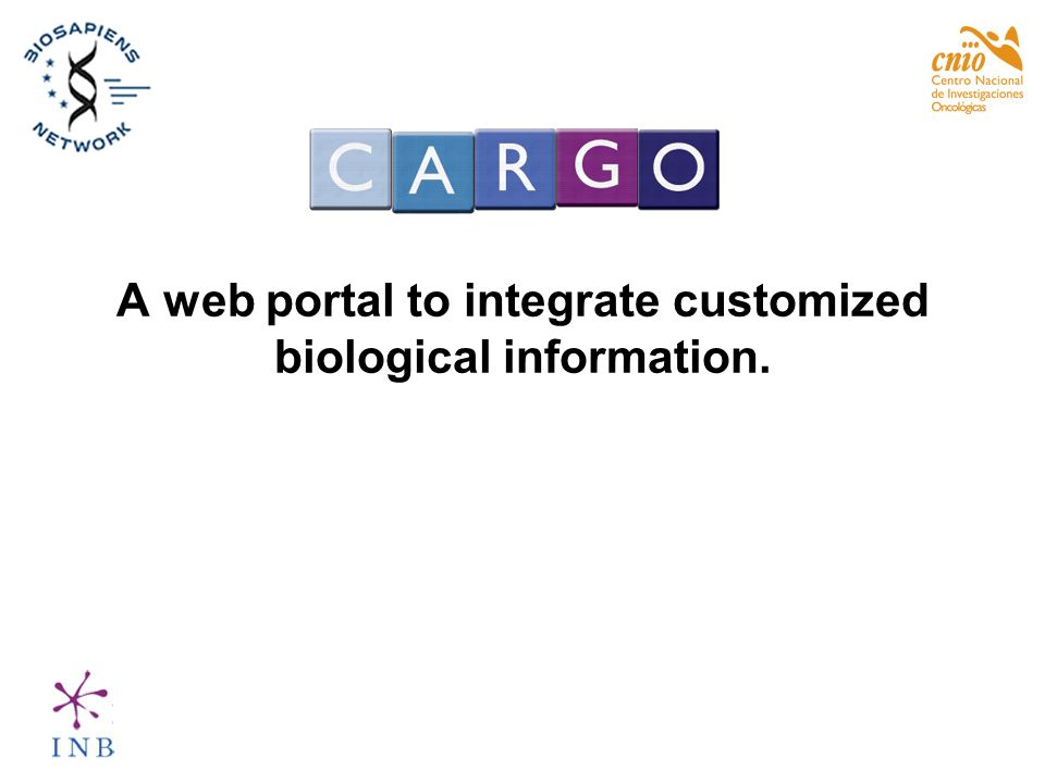 A web portal to integrate customized biological information.