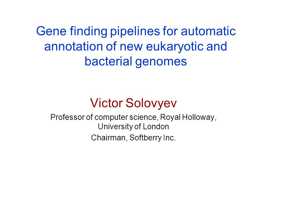 Gene finding pipelines for automatic annotation of new eukaryotic and bacterial genomes