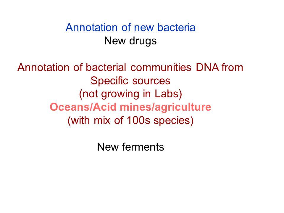 Oceans/Acid mines/agriculture