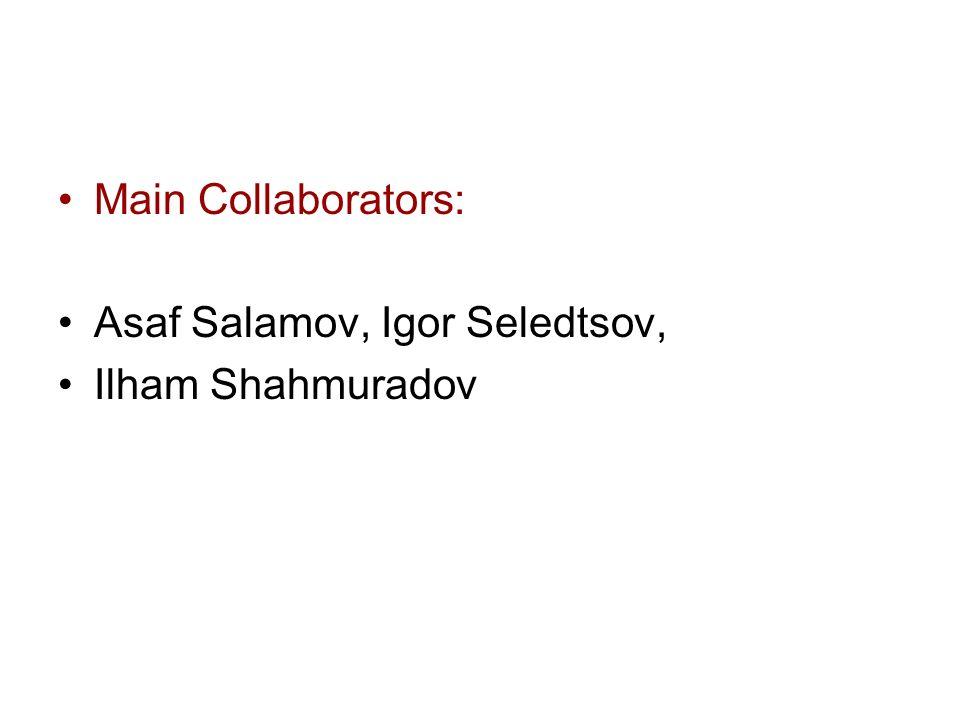 Main Collaborators: Asaf Salamov, Igor Seledtsov, Ilham Shahmuradov