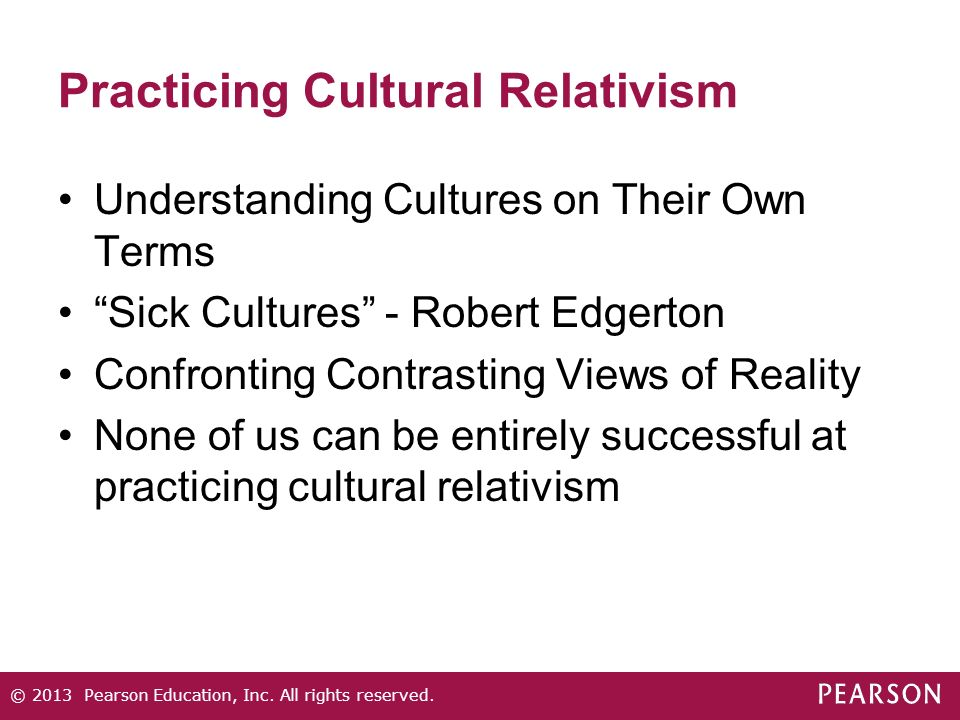 understanding cultural relativism View the_concept_of_cultural_relativism_in_a from math 032 at devry chicago understanding cultural relativism in a multicultural world (or teaching the concept of cultural relativism to ethnocentric.
