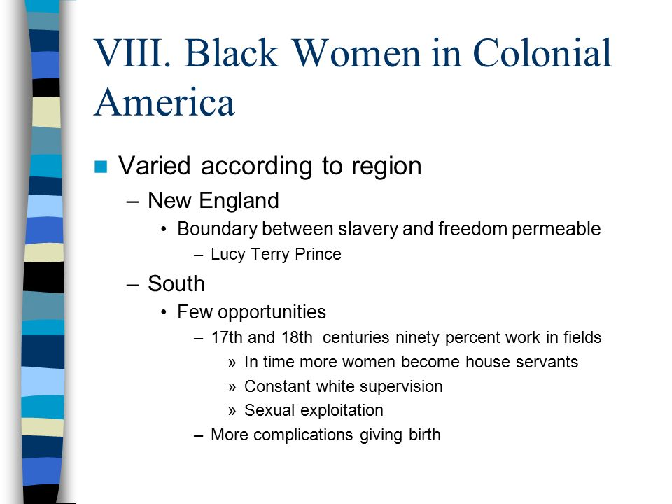Giving In To Obstructionism >> Black People in Colonial - ppt download