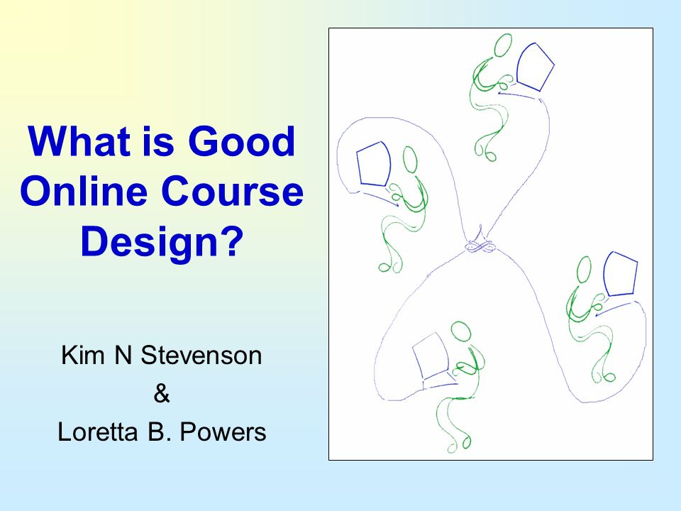 What is Good Online Course Design