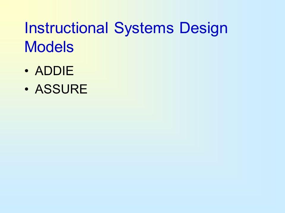 Instructional Systems Design Models