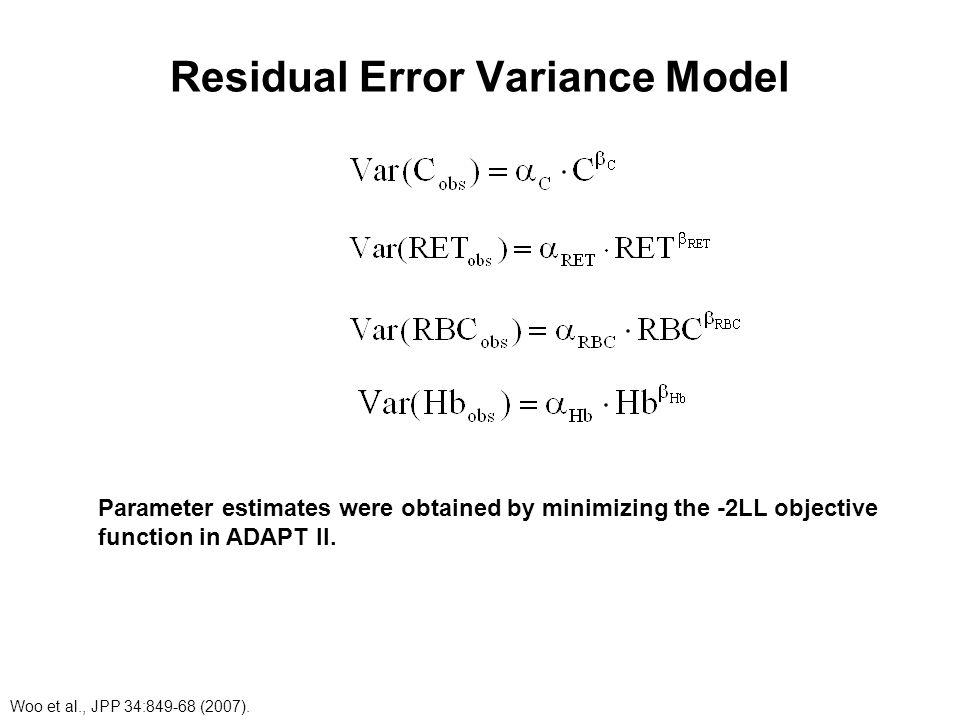 Residual Error Variance Model